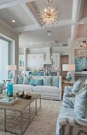 Coffered Ceiling White And Aqua Teal Fresh Living Room Furniture Modern