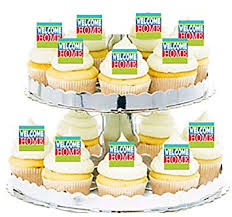 Welcome Home Cupcake Food Appetizer Decoration Topper Picks