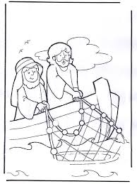 John 211 19 Jesus Served Breakfast By The Sea Coloring Page