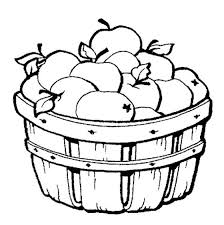 Basket Of Apples Colouring Page Great For Kids Or Adults Practicing With Their