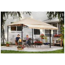 CASTLECREEK 10'x10' Gazebo With Awning, Steel Frame - 581480 ... Garden Sunjoy Gazebo Replacement Awnings For Gazebos Pergola Winds Canopy Top 12x10 Patio Custom Outdoor Target Cover Best Pergola Your Ideas Amazing Rustic Essential Callaway Hexagon Patios Sears