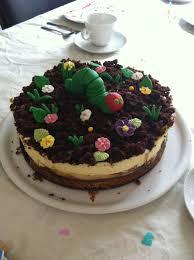 raupe nimmersatt torte kuchen ideen kinderdesserts raupe