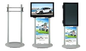 Trade Show Tv Stand Store Display Stands Product Portable To