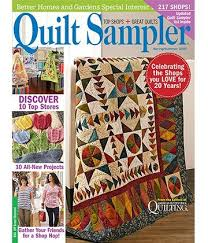 Quilt Sampler Table of Content Spring Summer 2015