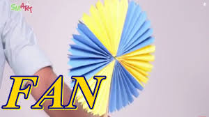 How To Make A Colourful Paper Fan