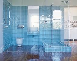 blue and white floor tile idea by reclaimed tile