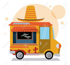 Taco Mexican Truck Fast Food Delivery Transportation Creative ...