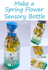 Spring Flower Sensory Bottle From My Little 3 And Me