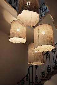 Hanging DIY Paper Lamp Shade Crafts On Wall