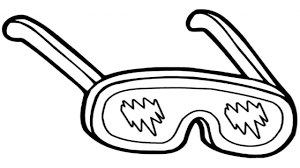 Eyeglasses Snow Coloring Pages