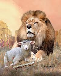 Christian Wall Decor Featuring Lion Of Judah Lamb God II Painting By Dale Kunkel Art