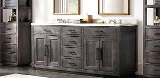 Restoration Hardware Bathroom Vanity Single Sink by La Salle Metal Wrapped Vanity Bath Collection Zinc Rh
