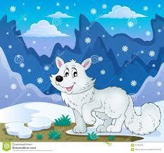 Imagen Polar 1 Del Tema Del Zorro Ilustración Del Vector