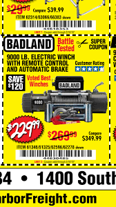 100 Truck And Winch Coupon Code Badland Harbor Freight Winch Page 2 Jeep Wrangler Forum
