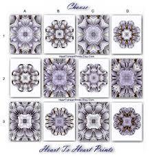 Gray Wall Art Silver Rustic Prints Floral Ornament