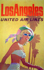 United Airlines Ad Los Angeles C 1960s Illustration By Stan Galli