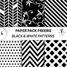 Free Black & White themed pattern paper pack from GoneDigital Design