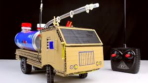 How To Make RC Fire Truck From Pepsi Cans And Cardboard - Diy Remote ...