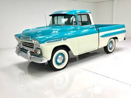 1959 Chevrolet Apache For Sale #98939   MCG Custom 1950s Chevy Trucks For Sale Your Truck Very Nice 1958 Chevrolet Apache Pick Up Sale 2196038 Hemmings Motor News 1961 C20 Pickup Fleetside On Bat Auctions 1965 C10 For In Bc 350 Small Block Classic Car 1955 In Fulton County 1956 Big Window Short Bed Stepside Hot Rod Network 1959 3100 Stock 139365 Near Columbus Oh 4x4 18097 San Ramon Ca Classiccarscom Cc909448