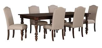 The Baxenburg Brown 7 Pc Rectangular Dining Room Extension Table