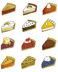 Twelve pie illustrations cherry pie key lime pie pumpkin pie banana cream