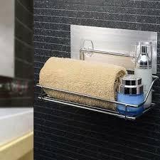 wand badezimmerablage duschregal edelstahl aufbewahrungskorb