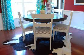 Dining Room Area Rugs Ideas Pleasant White Upholstered Chair Antique Shine Stainless Steel Pendant Lamp Elegant Pale Brown Leather Off Silk