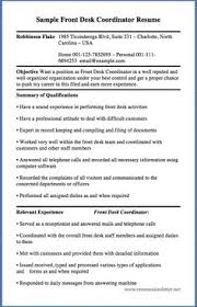 Cover Letter For Front Desk Coordinator by Unforgettable Receptionist Resume Examples To Stand Out