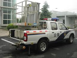 100 Truck Mounted Boom Lift Vertical Double Mast Hydraulic