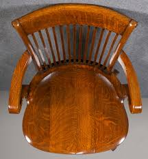 Oak Swivel & Reclining Desk Chair. - Antiques Atlas