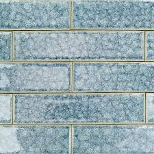 2x8 Ceramic Subway Tile by Roman Collection Brisk Blue 2x8 Glass Tile Roman Glass