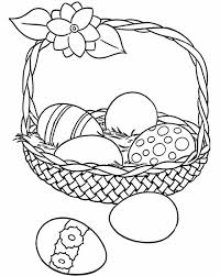 Small Easter Eggs On Basket Coloring Pages For Kids Printable