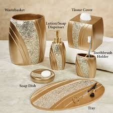 Gold Mercury Glass Bath Accessories by Bathroom Bathroom Gold Accessories Decorations Ideas Inspiring