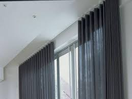 bay window curtain track ceiling fix memsaheb rail windows