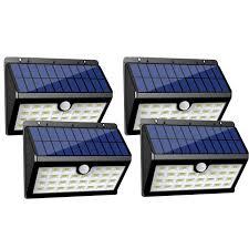 innogear solar lights 30 led wall light outdoor security lighting