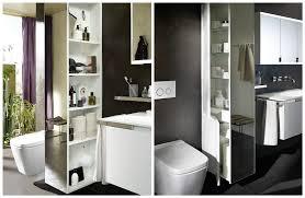 separation salle de bain séparer wc et lavabo avec une armoire colonne