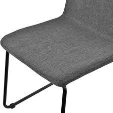 en casa 2x design stühle stoff textil dunkelgrau stuhl