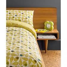 Orla Kiely Acorn Cup Olive Pillow Cases Set 2