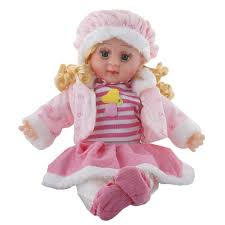 Buy Sky Zone Soft Girl Singing Songs Baby Doll Toy Medium Pink