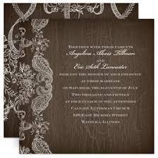 Lace Wedding Invitations Rustic Invitation