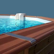 margelle piscine en bois ensemble de 8 margelles en composite ness castorama
