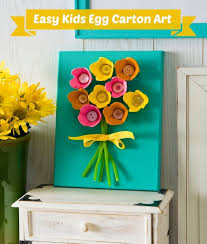 EASY Egg Carton Art On Canvas For Kids
