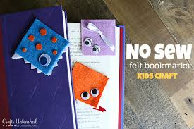Felt No Sew DIY Bookmarks Kids Crafts Unleashed