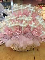 Baptism Decoration Ideas For Twins by White Chocolate Cross Favors Pink And White For Baby