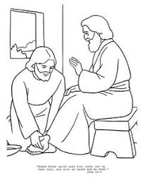 Jesus Washes Feet Craft Washing Disciples Clipart