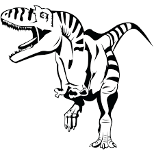 Coloring Pages Dinosaurs Online Dinosaur Read Before Dark T Rex Free Full Size