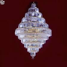 Fancy Chandeliers Gold Hanging Crystal Lamp Golden Metal Chandelier W X