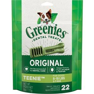 Greenies Dog Dental Chew Treats - Teenie, 170g