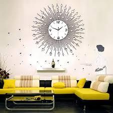 ld design ideen wohnzimmer moderne stille wanduhr diamanten