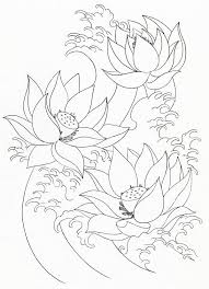 Lotus Flower Painting Coloring Page